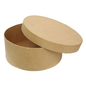 Paper Mache Shapes Come In a Wide Variety Kraft Box Round