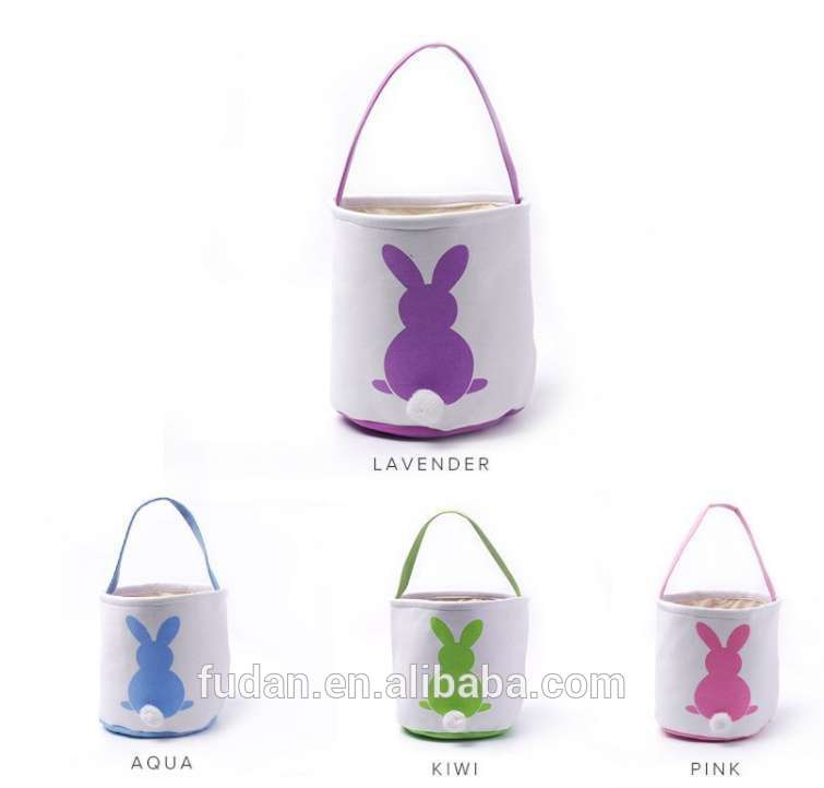 New Product Easter Rabbit Canvas bags Giant Bunny Storage Basket 2020