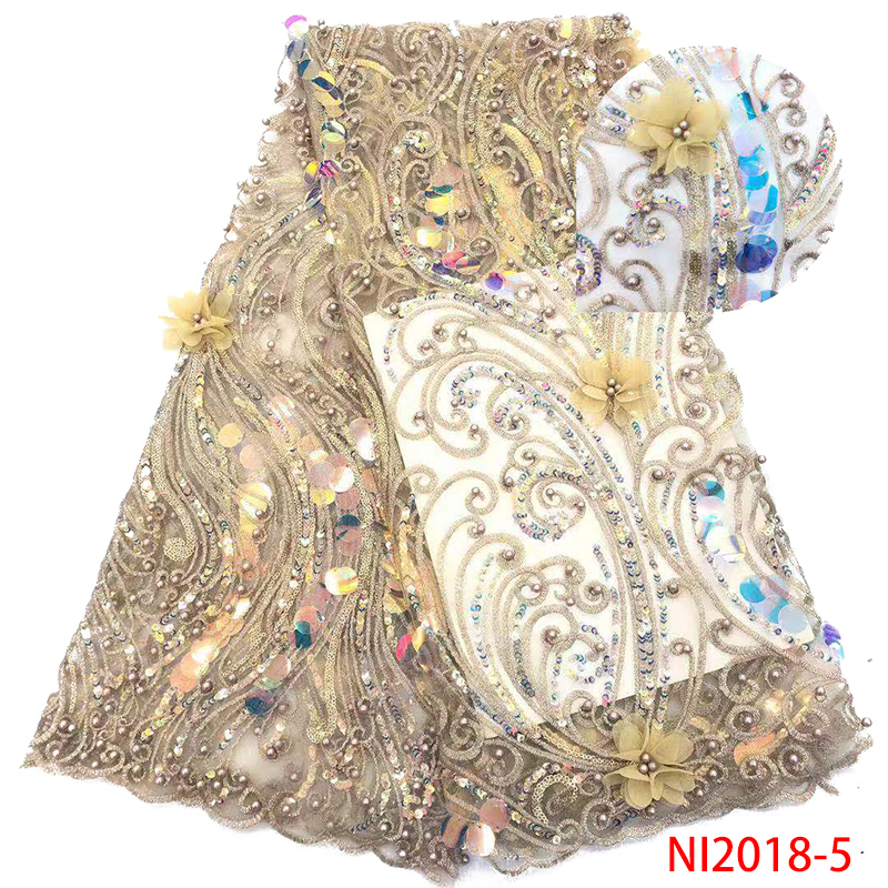 Yellow New Arrival African Lace Fabric High Quality 3D Applique French Mesh Material Fashion Lace For Wedding Dress XZ2818B