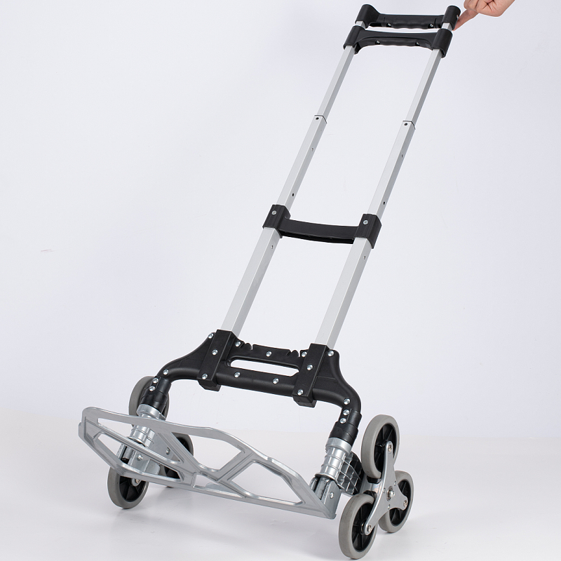 stair climbing trolley hand dolly easy go cart with 6 rubber wheels food shopping trolley kart hand pallet truck