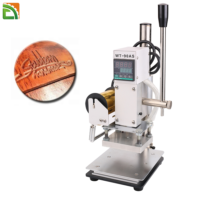 5x7CM Leather Hot Foil Stamping Machine 300W Logo Stamper Gold Embosser WT-90AS
