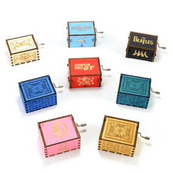 Mini wooden sound music boxes for musical movement