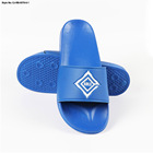 China manufactory custom comfortable blue silicone slippers