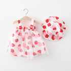 Summer Baby Girl Dress 2 Years Girl Frocks Bear Pattern with Cheap Price Leisure Dress