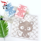 Towel Cotton Small Size Yarn Dyed Lovely Cat Design Children Use Hand Towel Face Towel