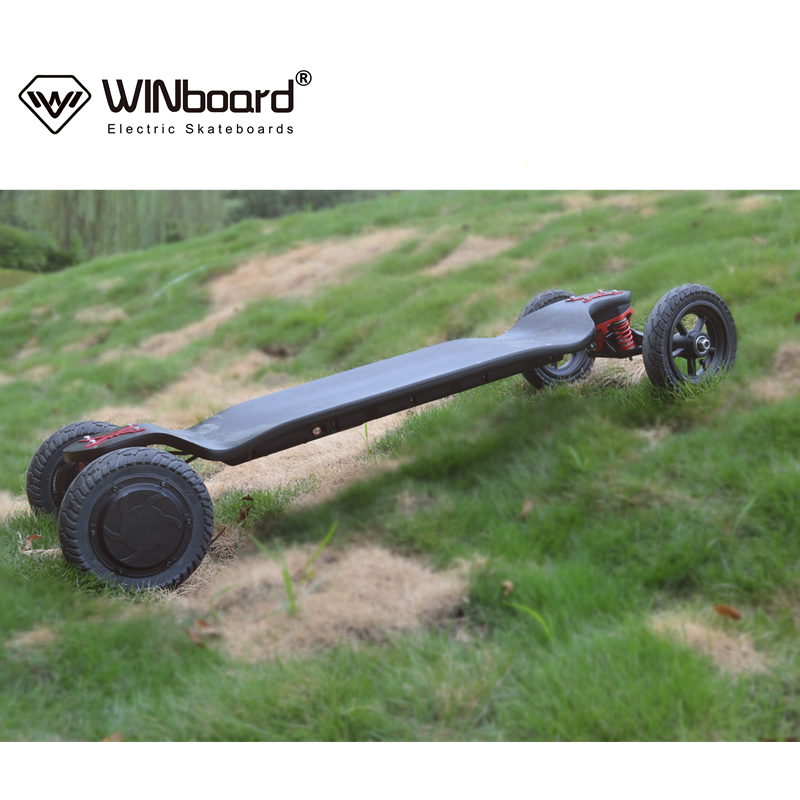 WINboard new AT boards with customized hub motor 38kmh speed drop deck 14AH battery electric skateboard in factory wholesale