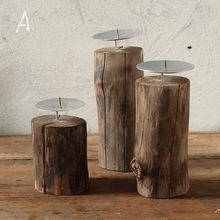 Твердый подсвечник из дерева, Декор, ретро подсвечники, украшения, американские Чайные свечи, украшение для дома, подарок Kerzenhalter FC182(Китай)