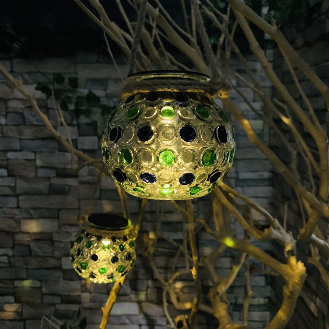 IP44 waterproof glass outdoor garden lights solar for Christmas tree decoration