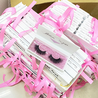 Wholesale fluffy real mink 3d lashes custom 25mm eyelashes own brand 2020 eyelash boxes packaging vendors