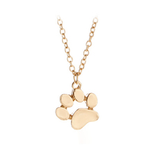 Populaire Mignon Animal Chat Griffe <span class=keywords><strong>Pied</strong></span> Collier Alliage Empreinte Collier Collier Pendentif Animal