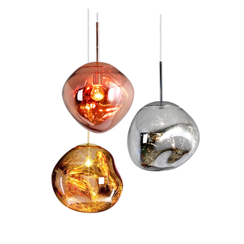 Nordic Home Chandelier Multicolor Lava Shade Modern Melt Pendant Light