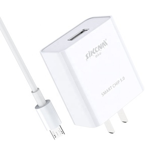 Sikenai With Micro Cable USB Wall Charger Quick Charger for Samsung xiaomi Charger