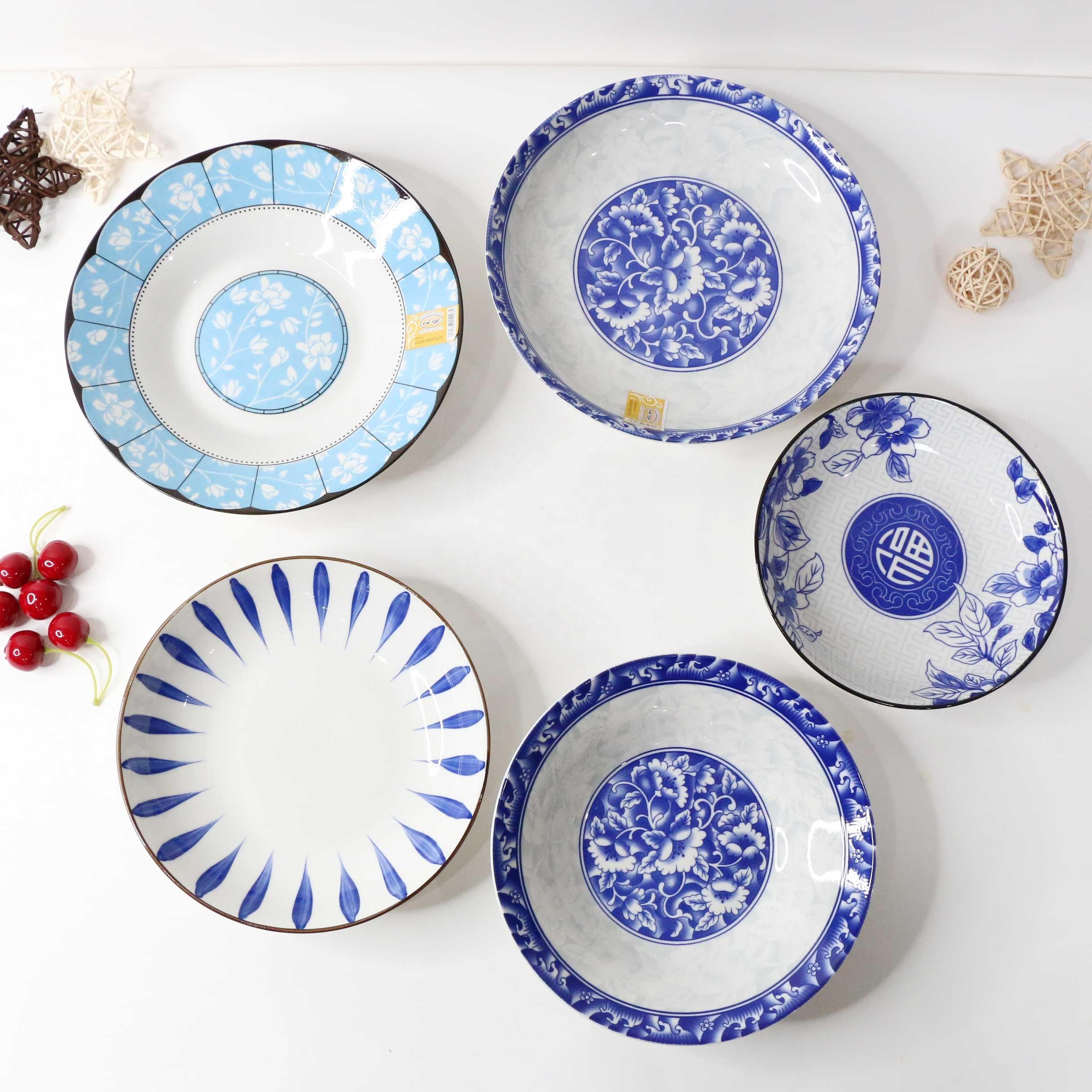 Ensemble de bols à salade en porcelaine, de 8 tailles, en céramique