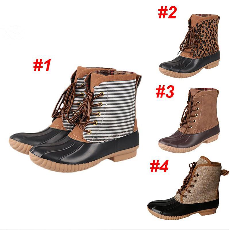 थोक व्यक्तिगत नई डिजाइन निविड़ अंधकार महिलाओं तेंदुए बतख जूते