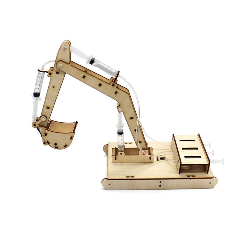ของเล่น DIY 4 ช่องไฮดรอลิก Excavator Building ชุดของเล่นเด็กทดลองวิทยาศาสตร์ STEM ของเล่นสำหรับเด็ก
