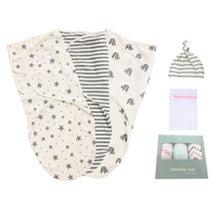 Hot selling high quality baby organic muslin swaddle blanket wrap set, 3 pack