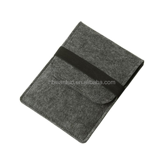 Fashion Black 9.7 inch Wool Felt Tablet Case Tablet Sleeve Tablet Pouch Laptop Bag