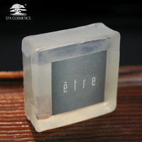 OEM Factory private label square transparent bar soap for hotels