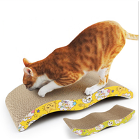 Amazon hot selling crazy pet interactive toy cardboard board cat scratcher with catnip