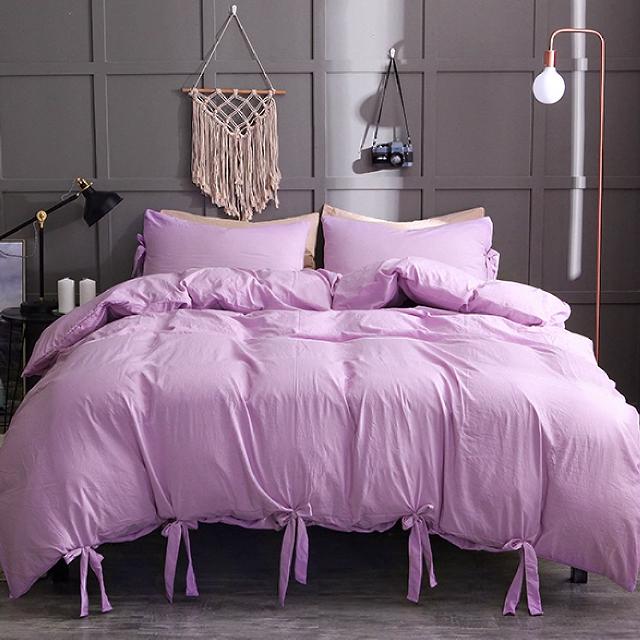Nottingson Brand Bedding 3Pcs Luxury Brand Bedding Sets Red Colour Duvet Cover Set