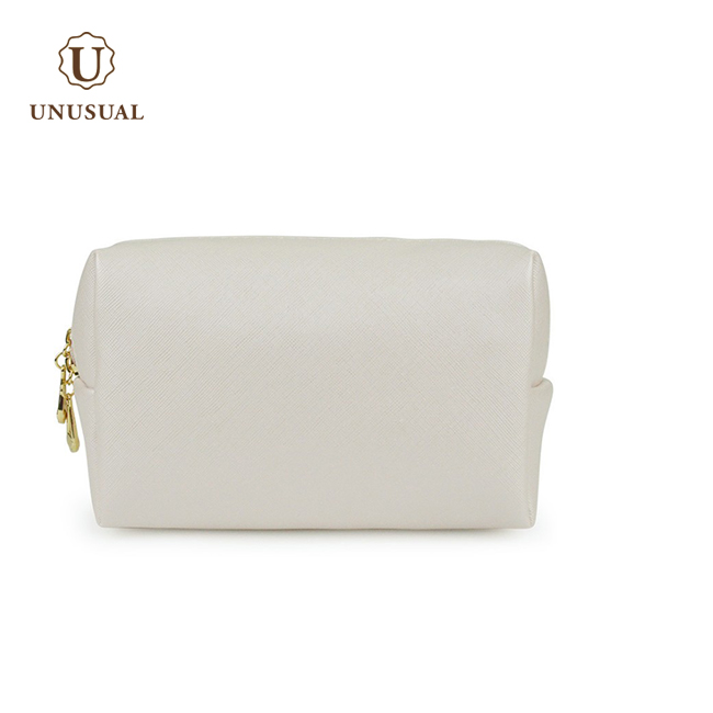 Cheap plain lady pu leather custom makeup bag <strong>cosmetic</strong>