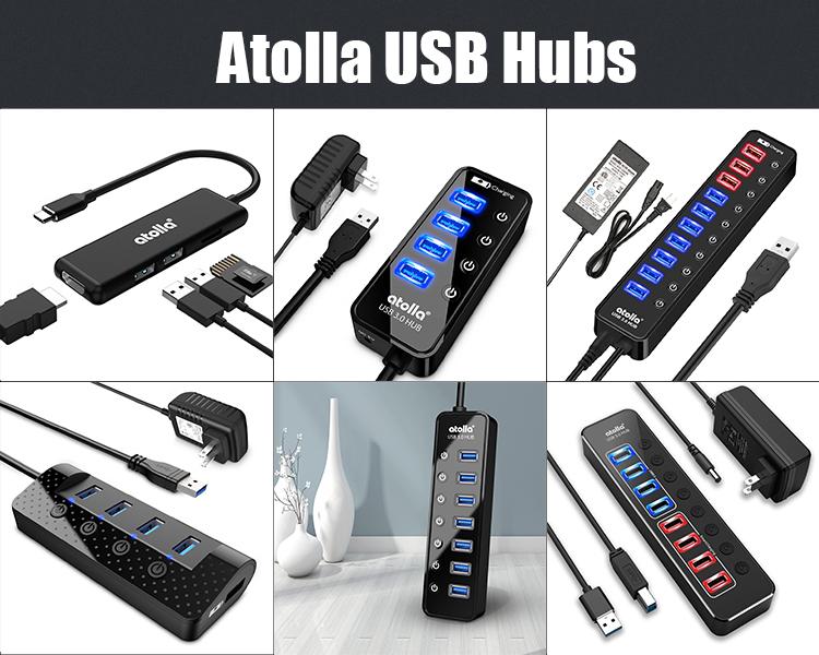 Direto Da fábrica Preços De Viagens Atolla 204 Mini Usb Hub Usb 3.0 Hub de Expansão Slot