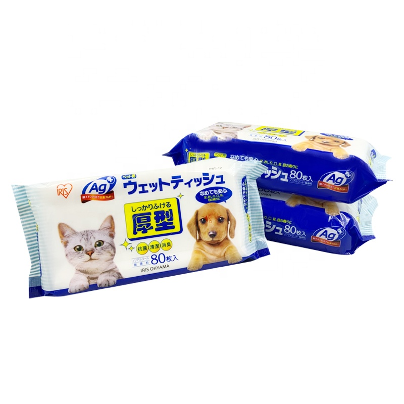 Eco Friendly Disposable Manufacturer Sterilizing Non-Woven Fabric Dog Wipes