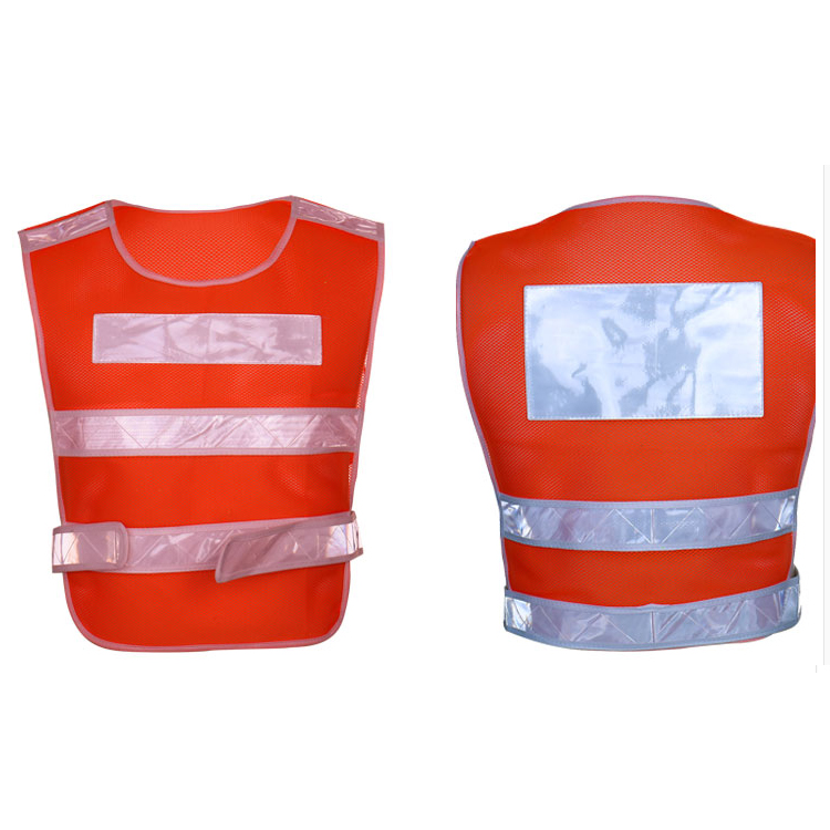 Custom Logo 140g Polyester Mesh <strong>Orange</strong> Breakaway Reflective Safety Clothing <strong>Vest</strong>