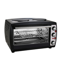 2019 Hot sale 26L mini oven electric bread baking oven electric stove oven with two hot plates
