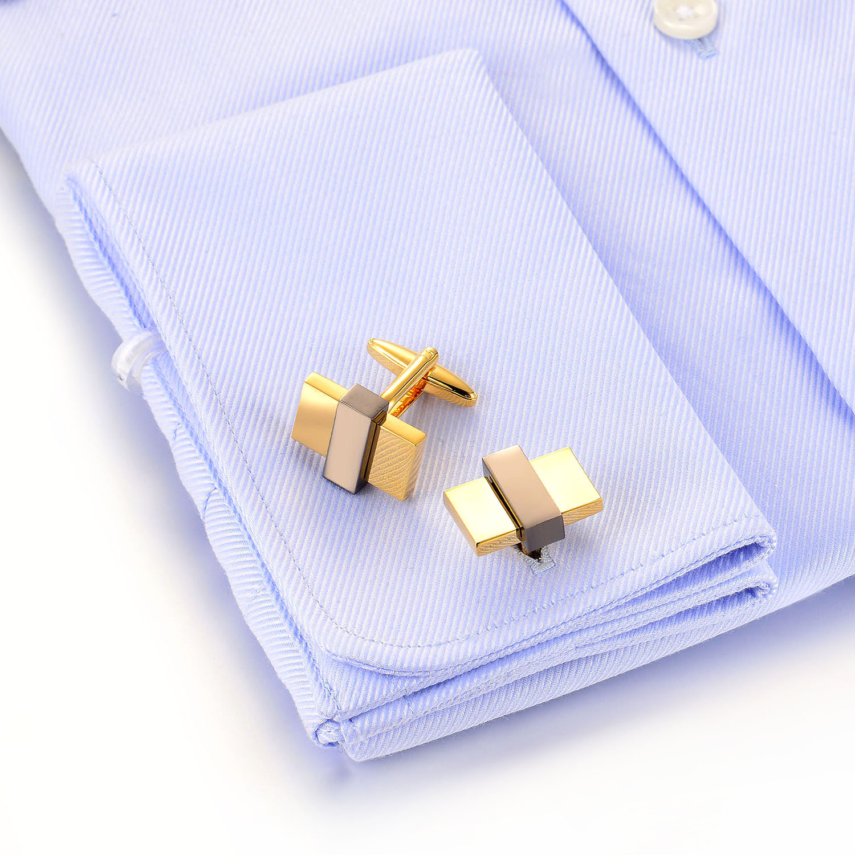 Classic High Polished Cufflink 925 Sterling Silver Cufflink Jewelry(图3)