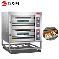 Guangzhou Factory bakery equipment prices double deck oven bakery 2 deck gas oven
