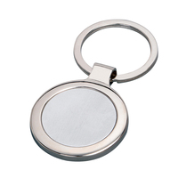 Hot sale cheap custom round shaped zinc alloy metal key chain holder