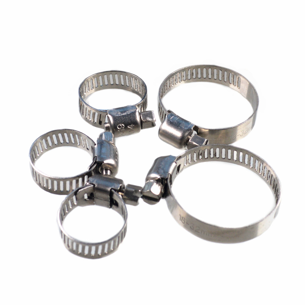 Auto prats Stainless Steel Single Ear Hose Clamp American Type Worm Drive hose clamp for hose fitting