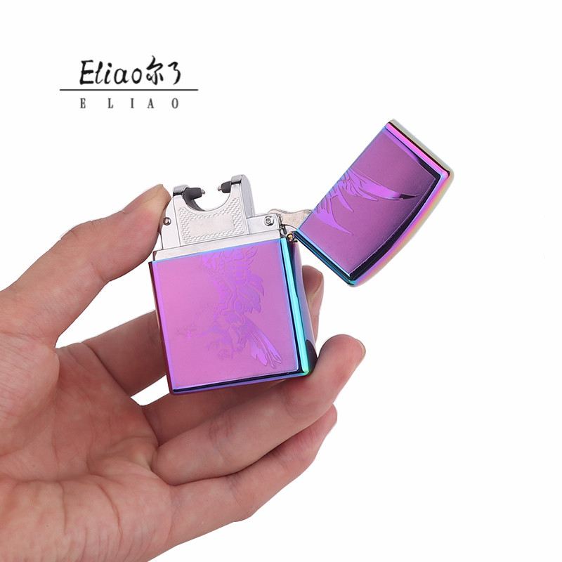 Erliao hot unique design  metal USB lighter can be customized LOGO  lighter