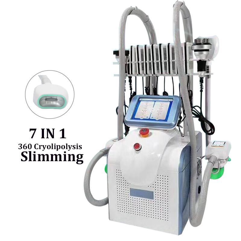 New cryolipolysis 360 degree cryo fat freezing machine portable cryolipolysis slimming machine with cavitation rf handles