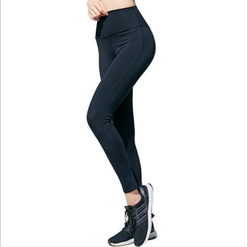 Wholesale fitness running red seamless ecological babes solid color girl fitness exercise high waist sexy yoga pants