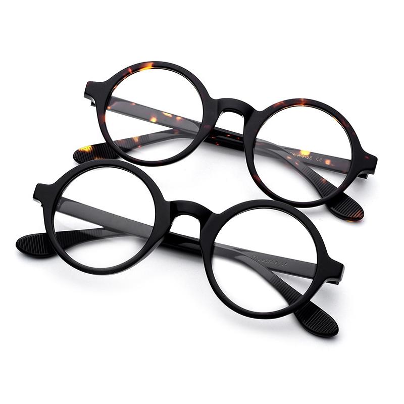 Yüksek kaliteli Mazzucchelli asetat gözlük Retro moda optik çerçeve erkekler yuvarlak Nerd gözlük