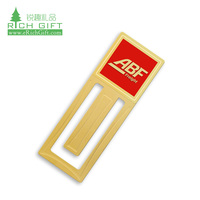 New design custom made laser cutting engraved metal bookmark for gifts gold etching bookmark metal logo