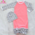 Wholesale Icing Ruffle Baby Girl Gown Set Ruffle Raglan Newborn Baby Gown With Hat