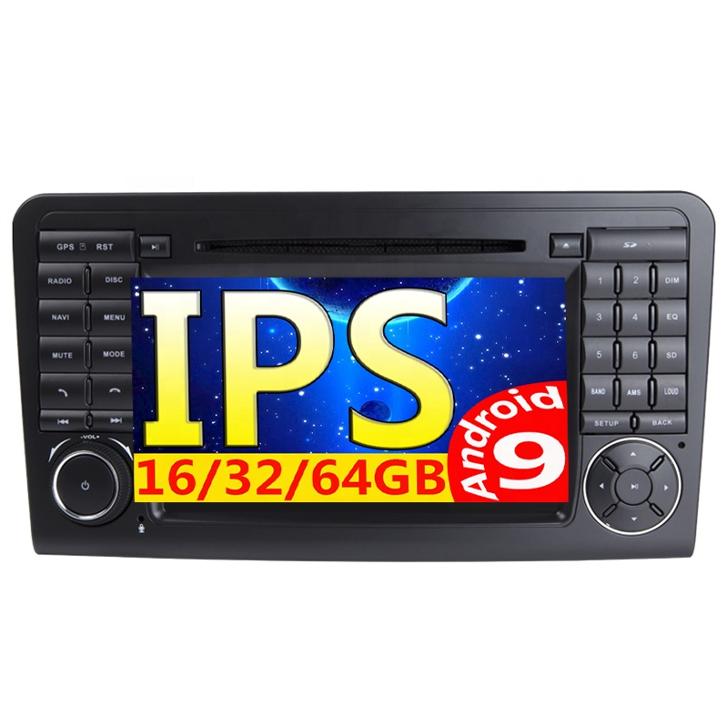 Din som do carro dvd GPS Din Android 9 2 2 filmes dvds Para Mercedes/Benz/GL CLASSE ML w164 ML350 ML450 ML500 GL320 Rádio w163/166