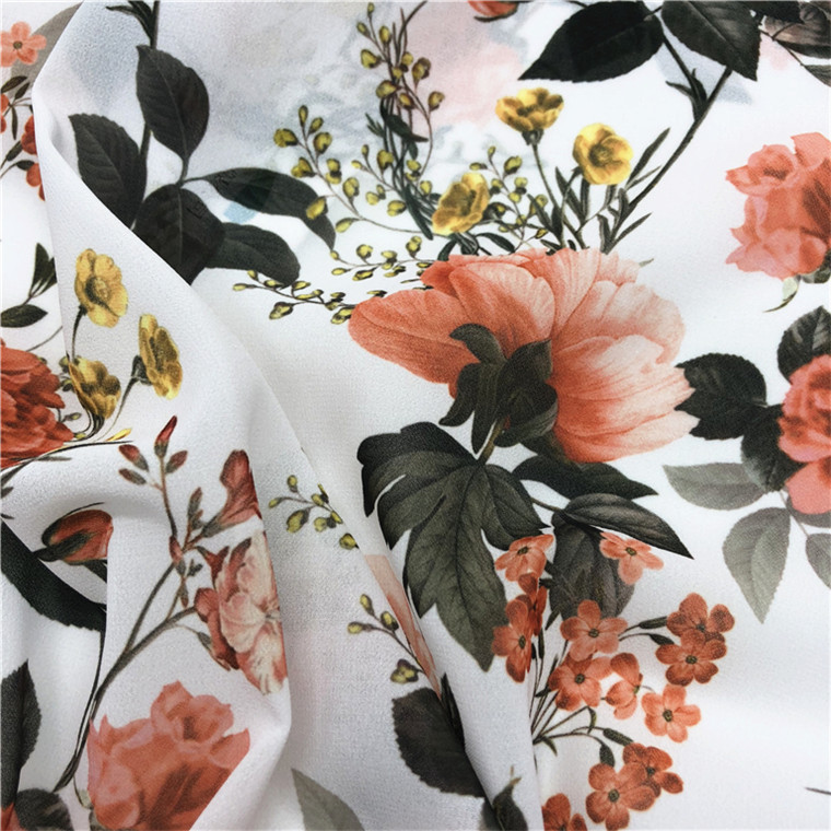 Polyester tulle fabric custom digital printed from China