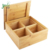 Large Bamboo Box Organizer with 4 Small Bamboo Boxes with Lid