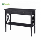 Luxury Black sofa foyer entrance Wooden Console Table Living Room Furniture Sets Modern Hallway Table MDF Entry Table