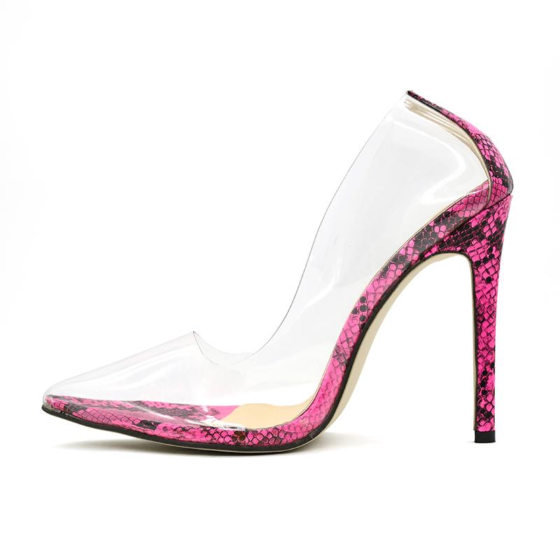 DG1907017 oem ファッション新スタイルの女性のかかとセクシーなパンプス透明靴 pvc クリアハイヒールの女性の靴