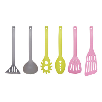 Wholesale Hot sale Colorful Light Non-slip 6 pcs Nylon Kitchenware Utensil Cooking Tool Set