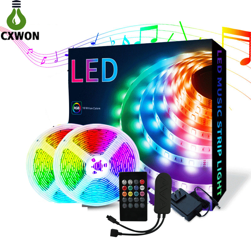 Amazon Supplier New LED Strip Lights 32.8ft IP65 Bluetooth Music Wireless Controller Strip kit with Power supply