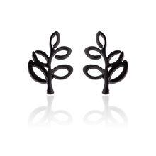 Женские минималистичные серьги-гвоздики Yiustar, черные серьги из нержавеющей стали с мультяшным Микки, аксессуары для подарка(Китай)