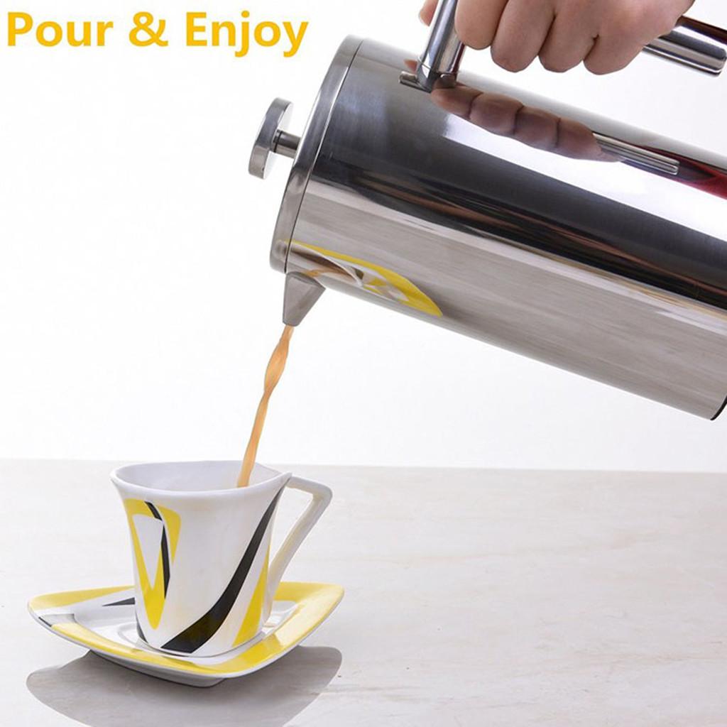 Домашний декор Нержавеющаясталь кофейник, френч-пресс для изготовления бонус Нержавеющаясталь Экран(Китай)