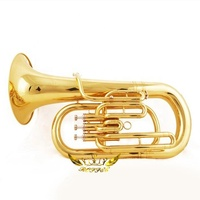 Roffee Musical Brasswind Instrument Gold Lacquer Bb Key Euphonium