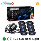 Led Rock Light Lights Led Car Light Car Led Multicolor Rock Light 4 8 Pods With Bluetooth Control RGB Decoration Undercar Lamp For Truck Boat Yacht Neon Lights Kit